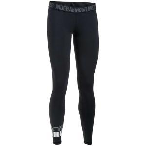 アンダーアーマー レディース スパッツ・レギンス インナー・下着 Under Armour UA Favorite Graphic Legging Black / Steel / White|fermart3-store