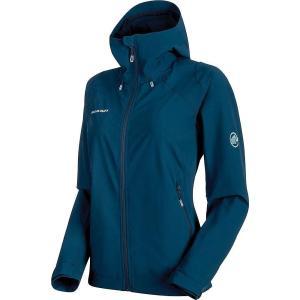 マムート レディース ジャケット アウター Runbold Trail SO Hooded Jacket Jay|fermart3-store