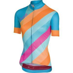 カステリ レディース トップス 自転車 Prisma Full Zip Jersey Multicolor Sky Blue|fermart3-store