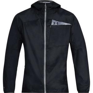 アンダーアーマー メンズ レインコート アウター Scrambler Hybrid Jacket Black / Black / Graphite|fermart3-store