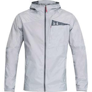 アンダーアーマー メンズ レインコート アウター Scrambler Hybrid Jacket Overcast Grey / Overcast Grey / Graphite|fermart3-store