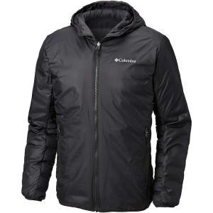 コロンビア メンズ ダウン・中綿ジャケット アウター Lake 22 Reversible Hooded Jacket Black|fermart3-store