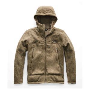 ザ ノースフェイス メンズ フリース トップス GL Alpine Full Zip Hoodie Beech Green Sweater Texture Print|fermart3-store
