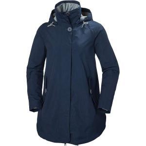 ヘリーハンセン レディース レインコート アウター Sendai Rain Coat EVENING BLUE|fermart3-store