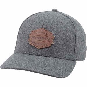 シムズ Simms メンズ キャップ 帽子 Wool Leather Patch Cap Heather Grey|fermart3-store