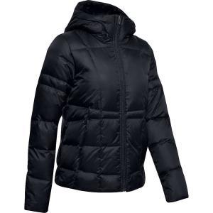 アンダーアーマー Under Armour レディース ダウン・中綿ジャケット フード アウター armour down hooded jacket Black/Jet Grey|fermart3-store