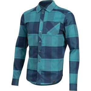 パールイズミ Pearl Izumi メンズ シャツ トップス Rove LS Shirt Navy/Hydro Plaid|fermart3-store