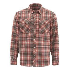 シムズ Simms メンズ シャツ フランネルシャツ トップス gallatin flannel ls shirt Simms Orange Plaid|fermart3-store