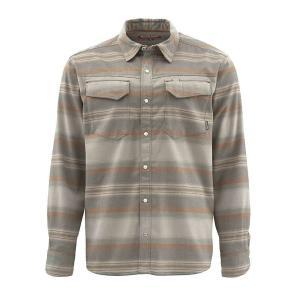 シムズ Simms メンズ シャツ フランネルシャツ トップス gallatin flannel ls shirt Dark Stone Stripe|fermart3-store