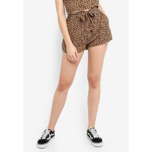 ファクトリエ Factorie レディース ショートパンツ ボトムス・パンツ Paperbag Woven Shorts Lulu Leopard fermart3-store