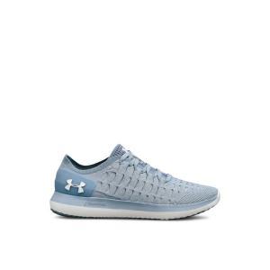 アンダーアーマー Under Armour レディース スニーカー シューズ・靴 UA W Slingride 2 Shoes Washed Blue/Ivory fermart3-store