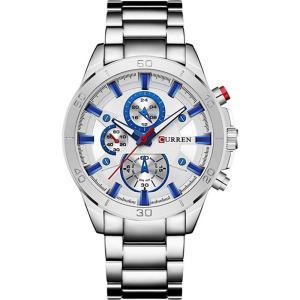 カレン curren メンズ 腕時計 クォーツ式時計 CURREN Watch 8275 wristwatches Luxury Quartz Watch Fashion Casual - Silver White Silver White fermart3-store