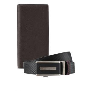 フォルクスワーゲン Volkswagen メンズ 財布 Belt & Wallet Gift Set Black/Brown|fermart3-store