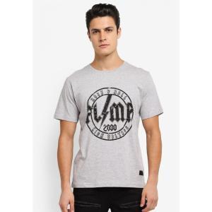 フレッシュ アイエムピー Flesh IMP メンズ Tシャツ トップス Mustaine Printed T-Shirt Heather Grey|fermart3-store