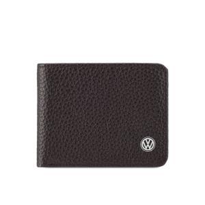フォルクスワーゲン Volkswagen メンズ 財布 Genuine Leather Wallet Dark Brown|fermart3-store