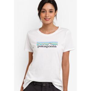 パタゴニア Patagonia レディース トップス Pastel P-6 Logo Crew Top White|fermart3-store