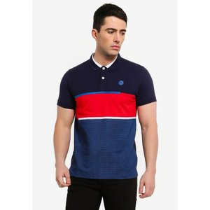 フォルクスワーゲン Volkswagen メンズ ポロシャツ トップス Short Sleeve Polo Shirt Navy Blue|fermart3-store