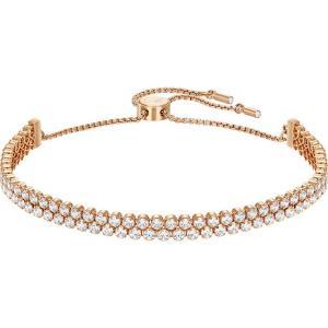 スワロフスキー レディース ブレスレット ジュエリー・アクセサリー Subtle Double Bracelet gold|fermart3-store