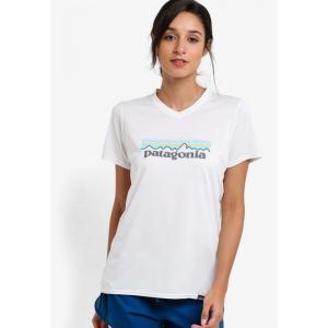 パタゴニア Patagonia レディース Tシャツ トップス Cap Daily Graphic T-Shirt White|fermart3-store