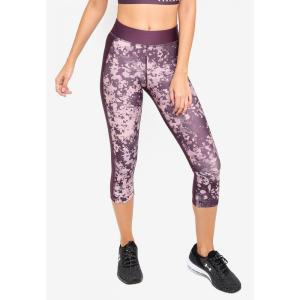 アンダーアーマー Under Armour レディース スパッツ・レギンス インナー・下着 UA Hg Print Armour Capri Pixel Purple/Flushed Pink/Metallic Silver|fermart3-store