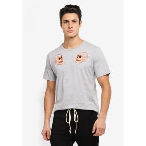 フレッシュ アイエムピー Flesh IMP メンズ Tシャツ トップス Skull Chain Stitched Cranium T-Shirt Heather Grey|fermart3-store