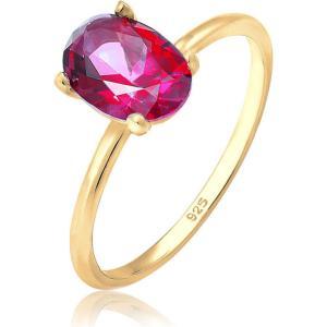 エリージャーマニー レディース 指輪・リング ジュエリー・アクセサリー Elli Germany Premium Ring Oval Swarovski Crystals Topaz 925 Silver Gold Plated|fermart3-store