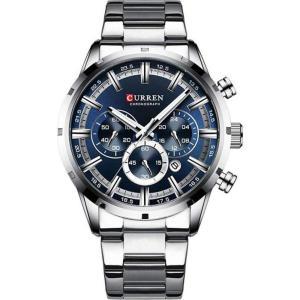カレン curren メンズ 腕時計 クォーツ式時計 CURREN 8355 Business Watch Waterproof Luminous Display Stainless Steel Quartz Watch - Silver Blue fermart3-store