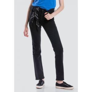 リーバイス Levi's レディース ジーンズ・デニム ボトムス・パンツ 314 Shaping Straight Jeans 19631-0000 Black|fermart3-store