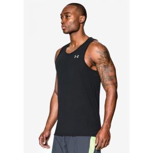 アンダーアーマー Under Armour メンズ タンクトップ トップス Threadborne Streaker Singlet T-Shirt Black/Steel/Reflective|fermart3-store