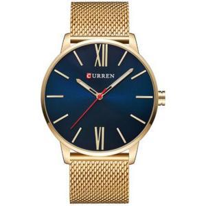 カレン curren メンズ 腕時計 Curren 8238 Roman Blue Gold Dial Stainless Steel Strap Analog Watch Blue fermart3-store