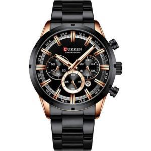 カレン curren メンズ 腕時計 クォーツ式時計 CURREN 8355 Business Watch Waterproof Luminous Display Stainless Steel Quartz Watch - Black Gold fermart3-store