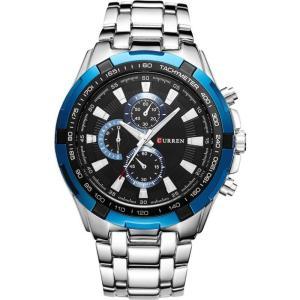 カレン curren メンズ 腕時計 Curren 8023 Stainless Steel Classic Watch (Black Blue) Black fermart3-store