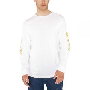 アルマダ Armada メンズ 長袖Tシャツ トップス Cipher Long - Sleeve T - Shirts White|fermart3-store