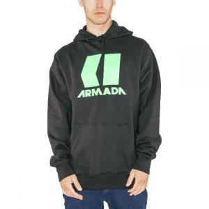アルマダ Armada メンズ パーカー トップス Icon Hoodies Black|fermart3-store