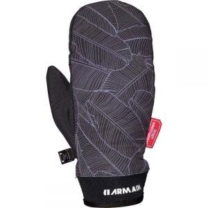 アルマダ Armada レディース 手袋・グローブ Carmel Windstopper Mitt Black Banana Leaf|fermart3-store