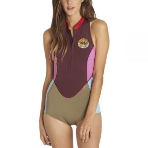 ビラボン レディース ウェットスーツ 水着・ビーチウェア Salty Jane Springsuit Mulberrry|fermart3-store