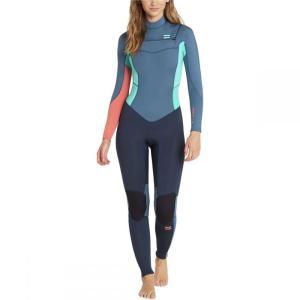 ビラボン Billabong レディース ウェットスーツ 水着・ビーチウェア 3/2mm Furnace Synergy Chest - Zip GBS Wetsuit Slate|fermart3-store