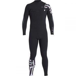 ビラボン Billabong メンズ ウェットスーツ 水着・ビーチウェア 3/2 Furnace Carbon Comp Chest Zip Full Wetsuits Black Print|fermart3-store