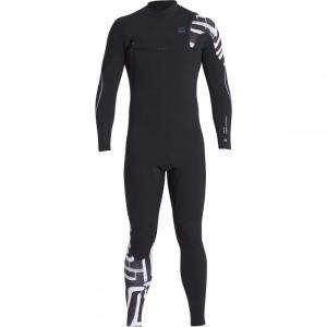 ビラボン Billabong メンズ ウェットスーツ 水着・ビーチウェア 4/3 Furnace Carbon Comp Chest Zip Full Wetsuits Black Print fermart3-store