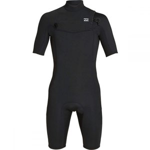 ビラボン Billabong メンズ ウェットスーツ 水着・ビーチウェア 2mm Absolute GBS Chest Zip Short-Sleeve Spring Suits Black/Silver|fermart3-store