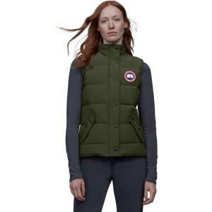 カナダグース レディース ベスト・ジレ トップス Freestyle Down Vest Military Green|fermart3-store