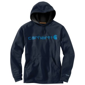カーハート Carhartt メンズ フィットネス ウェア Force Extremes Signature Graphic Hooded Sweatshirt Navy|fermart3-store