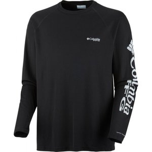 コロンビア メンズ 釣り ウェア トップス Terminal Tackle Shirts Black/Cool Grey Logo|fermart3-store