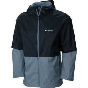 コロンビア Columbia メンズ レインコート マウンテンジャケット アウター Roan Mountain Jacket Black/Grey Ash|fermart3-store