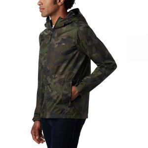 コロンビア Columbia メンズ レインコート マウンテンジャケット アウター Roan Mountain Jacket Olive Green Cloudy Clouds|fermart3-store
