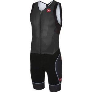 カステリ Castelli メンズ トップス トライアスロン Free Sanremo Sleeveless Suits Black|fermart3-store