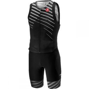 カステリ Castelli メンズ トップス トライアスロン Free Sanremo Sleeveless Suits Black/Black|fermart3-store
