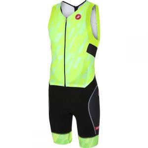 カステリ Castelli メンズ トップス トライアスロン Free Sanremo Sleeveless Suits Pro Green/Black|fermart3-store