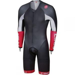 カステリ Castelli メンズ トップス トライアスロン Body Paint 3.3 Long - Sleeve Speed Suits Black/White|fermart3-store