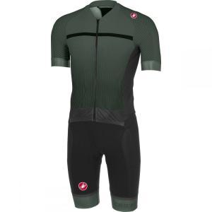 カステリ Castelli メンズ トップス トライアスロン Sanremo 3.2 Speed Suits Forest Gray/Black|fermart3-store